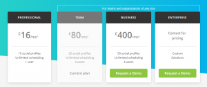 Social Management Hootsuite - Prices