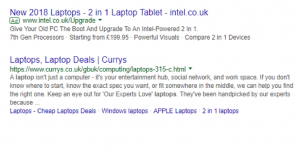 Google AdWords - sponsored and unpaid links