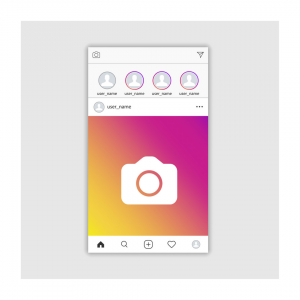 Instagram Stories for Business - Example Newsfeed