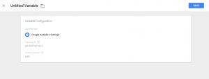 Setup Google Tag Manager