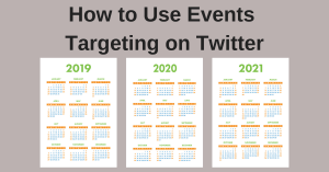 Event Targeting on Twitter
