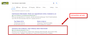 Google Ad Rank